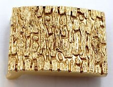 Beautiful 14K Yellow Gold Nugget Belt Buckle S8