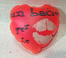 SAN VALENTINO AMORE CUORE GONFIABILE ROSA UN BACIO PER TE 15 CM INFLATABLE HEART