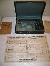 Antique SUPER MARVEL Violet Ray Generator Quack Medical Device in Box Working!