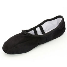 Canvas Split Ballet Dance Sole Shoes For Children Adult Pointe Slippers #24-41