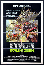 SOYLENT GREEN CHARLTON HESTON FUTURISTIC SCI-FI 1973 1-SHEET MOVIE POSTER