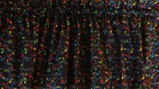 Black with Bright Primary Color Music Notes Valance Curtain Custom Made
