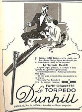 PARIS RUE DE LA PAIX FUME-CIGARETTE TORPEDO DUNHILL PUBLICITE 1927