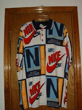 Vintage Nike Dealer's Polo/Rugby Shirt Large NEW NOS Large Made U.S.A.