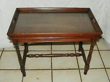 Small Walnut Coffee Table with Lift Off Serving Tray  (CT76)
