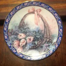 "Lena Liu's Basket Bouquets Plate Collection 3rd Plate ""Tulips & Lilacs"" Limited"