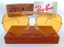 NOS B&L RAY BAN USA AMBERMATIC OUTDOORSMAN AVIATOR 62mm BAUSCH LOMB SHOOTING VTG