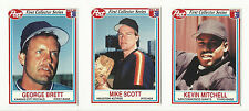 VINTAGE BASEBALL CARDS 1990 -  POST CEREAL – BRETT – MITCHELL – SCOTT