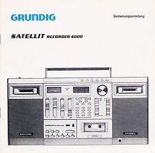 Mode d'emploi Grundig satellite recorder 4000