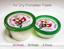 Cold Porcelain Paste, Grade A+, 16 oz, NON TOXIC, Air Dry, Porcelana Fria