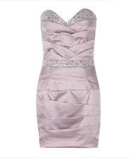 BNWT Stunning Lipsy Dusky Pink Diamante Bandeau Size 12 £75 Party Dress Club