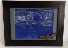 DC Comics Batman Framed Batmobile Blueprint and Replica Batarang
