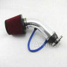 Universal 2.5 to 3 inch Short Silver Cold Air Intake System Pipe + Filter Kit