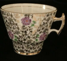 THOMAS FORESTER SONS PHOENIX GOLD CHINTZ PURPLE FLOWERS CUP ONLY T.F & S. LTD