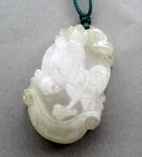 Natural Jadeite Jade Chinese Zodiac Happy Lucky Rooster Amulet Pendant