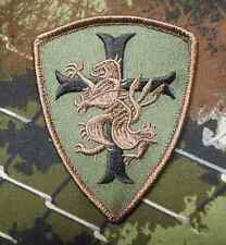 NAVY SEAL TEAM 6 DEVGRU LION CROSS CRUSADER SHIELD TACTICAL FOREST VELCRO PATCH