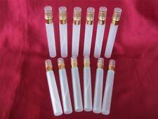 12 NEW SMALL FROSTED GLASS PERFUME SPRAY BOTTLES - 10ml