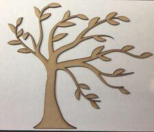 Forma de árbol de madera MDF 3 mm tamaño 240 Mm x 200 mm láser de corte