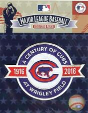 2016 Chicago Cubs Century of Baseball Patch 100th Anniversary Original Package