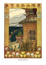 Das weiße Entchen Märchen Russland Bütten Iwan Jakowlewitsch Bilibin A3 05