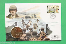 1994 - D Day Anniversary - Isle of Man Coin cover & One Crown - SNo41564