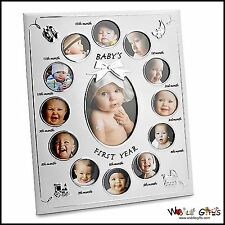 "NEW BABY ""BABY del primo anno"" Photo Frame-blocchi 13 foto"