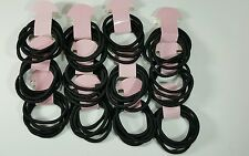 100pcs Hair Ties Pony Tail Holders Black Colors .