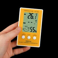 Indoor Outdoor Digital LCD Humidity Meter Thermometer Hygrometer with Probe Cabl
