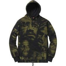 SUPREME Malcolm X Hooded Sweatshirt Black M box logo safari camp cap S/S 15
