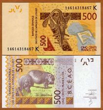 West African States, Senegal, 500 francs, 2012 (2014), Pick 719K, UNC   Hippo