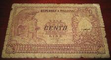 Banconote Europa/Italia Banca D'Italia 100 Cento Lire