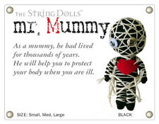 NWT BLACK Mr MUMMY Monster RED HEART Original String Doll Voodoo Gang keychain