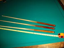 """3 Brand New One Piece Pool Cues sticks Bar House Maple 4-Prong inlay 48"""" inch"""