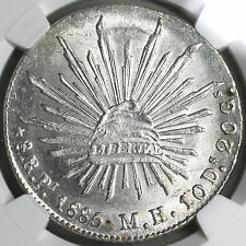 1885-Pi NGC MS 63 MEXICO 8 Reales Coin (16112103C)