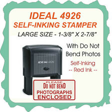 Photographs Enclosed - Do Not Bend, Trodat / Printy Self Ink Stamp, 4926 Red Ink