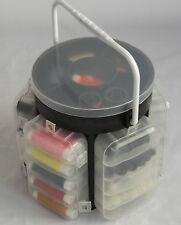 Nuevo 210 pc Kit de costura de lujo con caja de almacenamiento Caddy Pins Botones hilos agujas