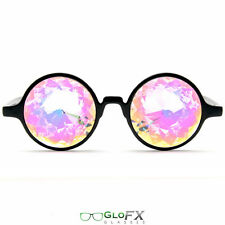 Rainbow Colored lens Kaleidoscope Glasses - New made in the USA high quality 3d