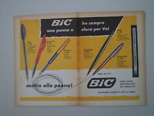 advertising Pubblicità 1961 PENNA BIC M 10/M 5/STILO/REFIL/SILVER