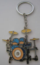 Drum Kit Key Ring Keyring Music Gift Present Drumkit Drummer Drums Percussion