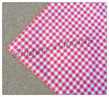 1 x Square Piece Gingham Check Fabric - 50cm - Various Colours Available