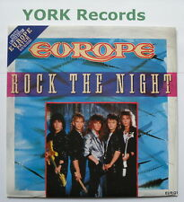 "EUROPE - Rock The Night - Excellent Condition 7"" Single Epic EUR Q1"