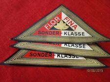 5 alte Zigarrenkisten Etiketten -  Flor Fina - wohl 1920/30er Jahre   /S52