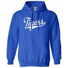 Tigers Script & Tail HOODIE - Hooded School Sports Team Sweatshirt - All Colors