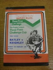 15/02/1981 Rugby League Programme: Batley v Keighley [Challenge Cup] (Creased).