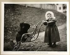 11x14 PRINT: CHILD w FUR HAT PUSHES PET DOG IN CARRIAGE JESSIE TARBOX BEALS 1912