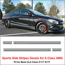 Edition 1 Style Stripes Sticker for Mercedes Benz W117 C117 X117 CLA 45 AMG Gray