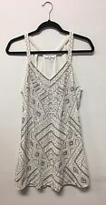 $400 PARKER WHITE SEQUIN BEADED DRESS, Small, Never Worn