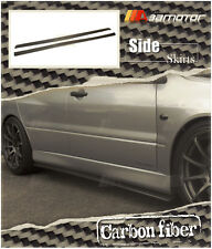Carbon Fiber Side Skirt Extensions Set for Mitsubishi Lancer Evolution EVO 7 8 9