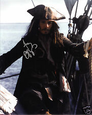 JOHNNY DEPP - PIRATES AUTOGRAPH SIGNED PP PHOTO POSTER
