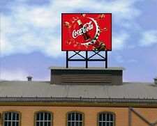 Animated Billboard Sign Coca-Cola 3  for rooftop building sides roadsid HO N OO